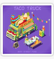 Food Truck Mexican Taco Sticker