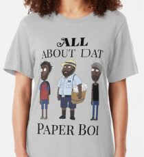 All About My Man Dat Paper Boi (Group) Slim Fit T-Shirt