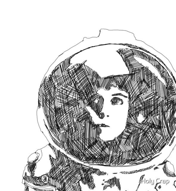 Ellen Ripley Pencil Portrait (Graphic T-shirt) by noauxia