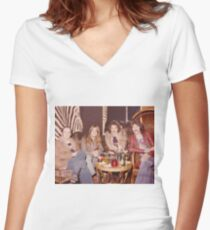 Chilling at the Waldorf Astoria Hotel New York Women's Fitted V-Neck T-Shirt