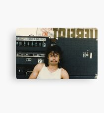 Drummer 'Philthy Animal' Phil Taylor Canvas Print