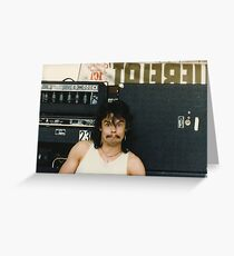 Drummer 'Philthy Animal' Phil Taylor Greeting Card