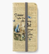 "Alice in Wonderland Quote Vintage Dictionary Art ""I've changed few times..."" iPhone Wallet/Case/Skin"