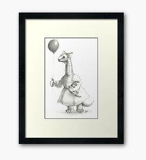 Sauropod Girl Framed Print