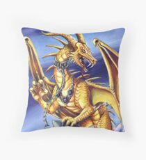 Gold Dragon  Throw Pillow