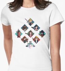 Final Fantasy cute tiles Womens Fitted T-Shirt