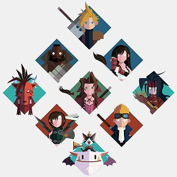 Final Fantasy cute tiles by GaiSensei