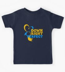 Down Right Perfect - Down Syndrome Awareness Kids Tee