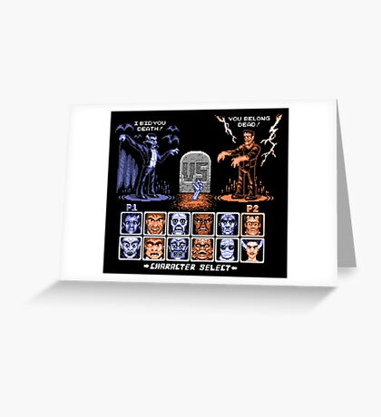 Classic Monster Fighter Greeting Card