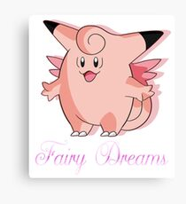 Clefable Canvas Print