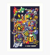 Bomber Battle - Player 01 (alternative) Art Print