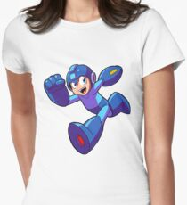 Megaman Running Women's Fitted T-Shirt