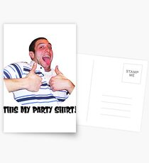 Bobby party Postcards