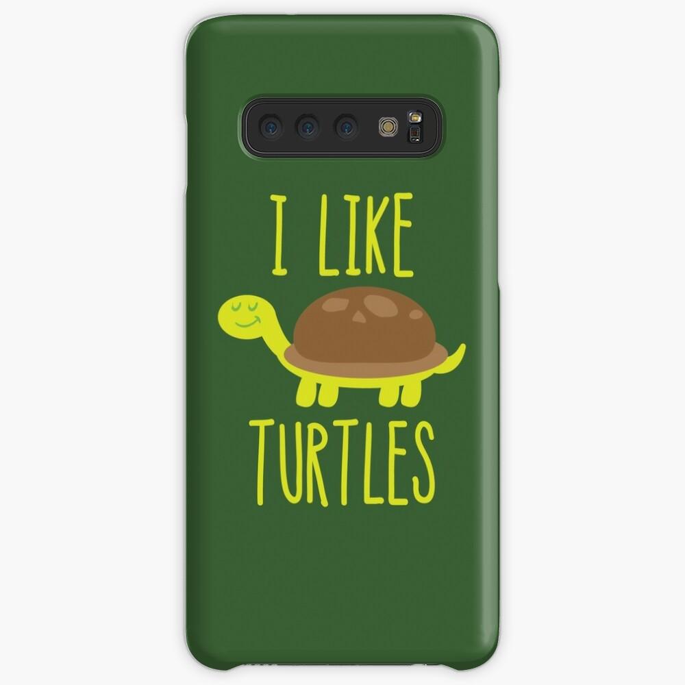 Me gustan las tortugas Funny Cute Turtle Lover Funda y vinilo para Samsung Galaxy