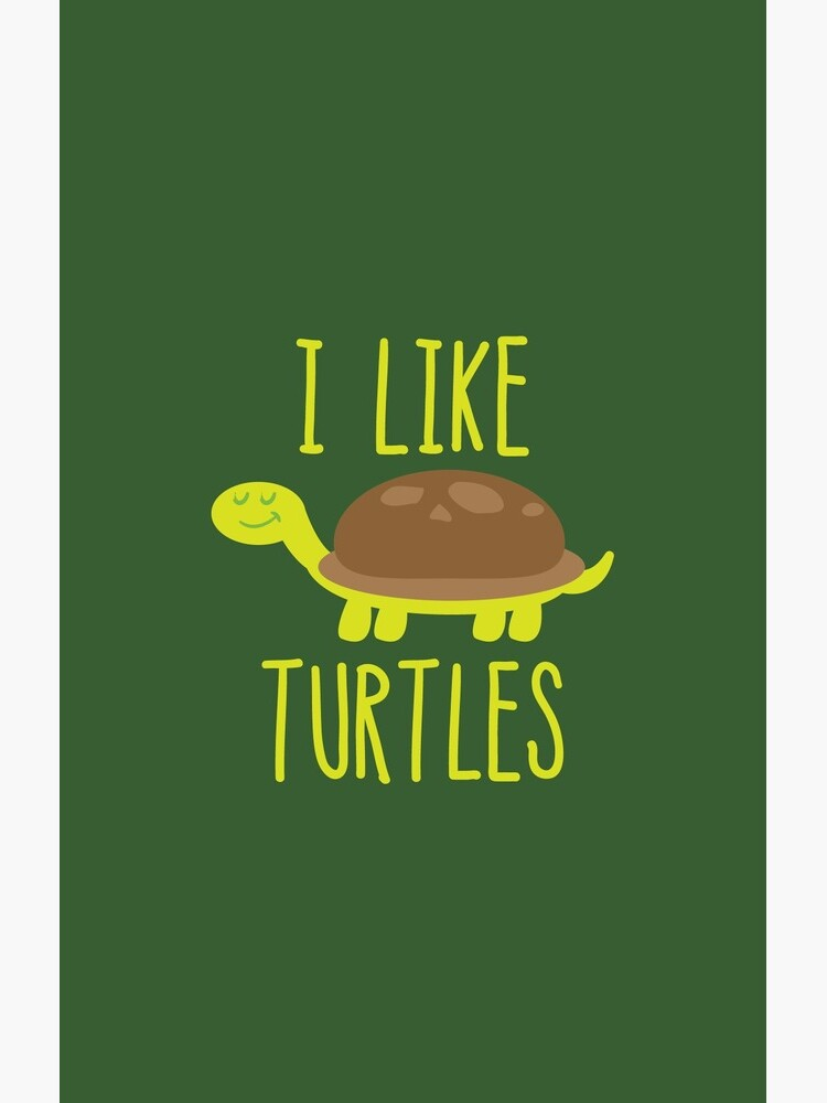 Me gustan las tortugas Funny Cute Turtle Lover de AurlexTees