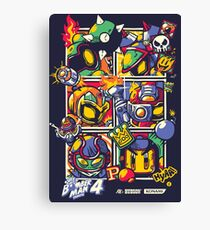 Bomber Battle - Player 02 Canvas Print