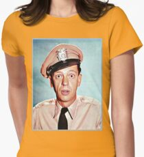 Barney Fife in color Womens Fitted T-Shirt