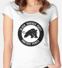 The Power of Black is Panther Women's Fitted Scoop T-Shirt