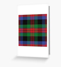 pattern Scottish tartan Greeting Card