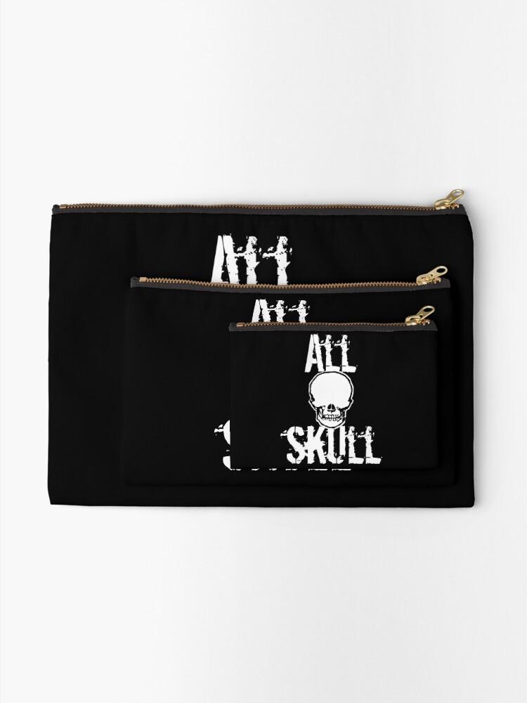Alternate view of All Skull - The Dark Side Zipper Pouch