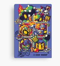 Bomber Battle - Player 04 Canvas Print