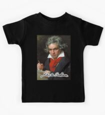Ludwig van Beethoven, German composer and pianist. Portrait, on Black Kids Clothes