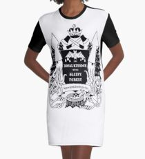 The Royal Kingdom of the Sleepy Forest Graphic T-Shirt Dress