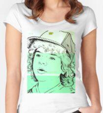 Dustin Henderson Art Drawing Women's Fitted Scoop T-Shirt