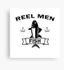 Reel men fish Canvas Print