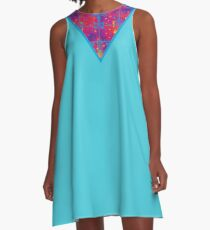 inverted warm neon triangle A-Line Dress