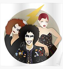 Musicals: The Rocky Horror Picture Show - Magenta, Frank, & Columbia Lineless Design Poster