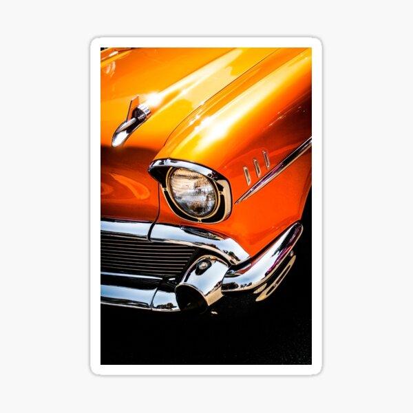 Orange 57 Chevy Sticker