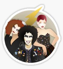 Musicals: The Rocky Horror Picture Show - Magenta, Frank, & Columbia Lineless Design Sticker