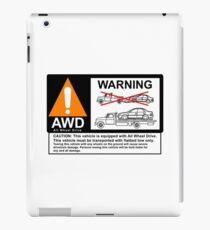 AWD Warning Towing Subaru iPad Case/Skin