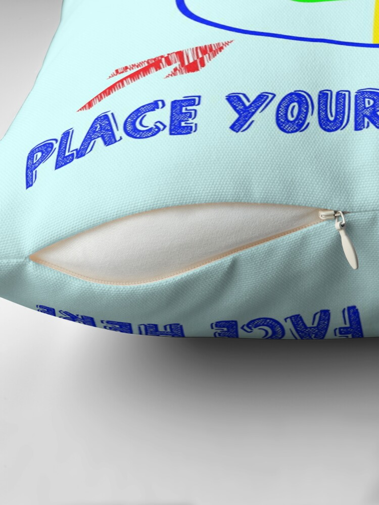 Alternate view of Scream Pillow - Place Your Face Here - Therapeutic Pillow Throw Pillow