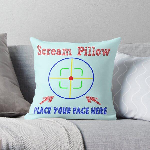 Scream Pillow - Placez votre visage ici - Oreiller thérapeutique Coussin