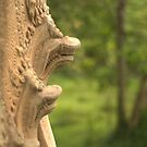 Beng Mealea Temple Snakes by Ian Mitchell