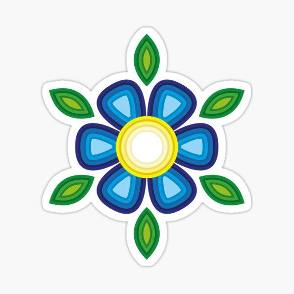Blue Flower Sticker