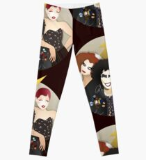 Musicals: The Rocky Horror Picture Show - Magenta, Frank, & Columbia Lineless Design Leggings