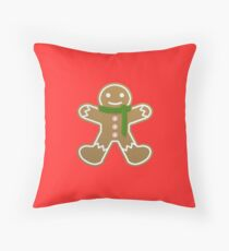 Gingerbread man  Throw Pillow