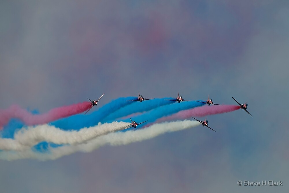 The Red Arrows Painting the Sky by © Steve H Clark