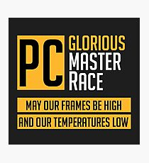 PCMR Slogan Photographic Print