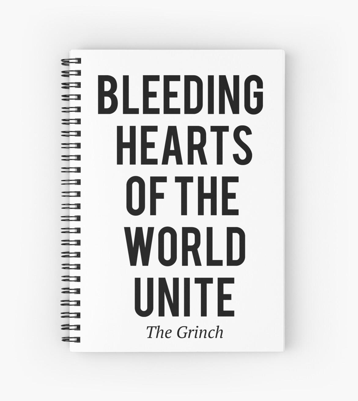Cuadernos de espiral «The Grinch - Bleeding hearts» de moviephrases ...