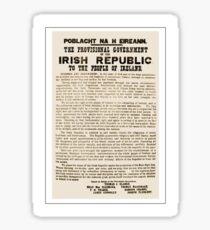 1916 Proclamation of the Irish Republic Sticker