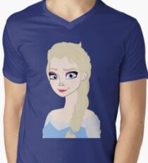 Princess Drawing - **MY OWN RENDITION NOT COPYWRITE** Traced it from my sketch - (Designs4You) Mens V-Neck T-Shirt
