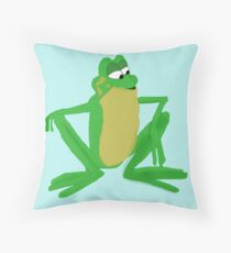 A frog prince Throw Pillow