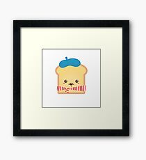 Cute French Toast with Moustache Framed Print