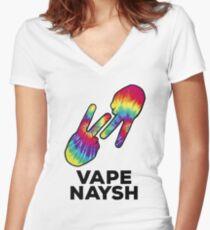 Vape Naysh - Tie Dye - Shirt Women's Fitted V-Neck T-Shirt