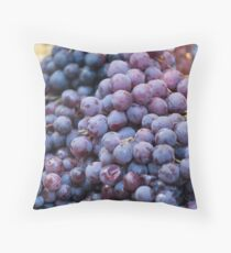 black grape Throw Pillow