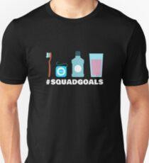 Squad Goals Dental Hygienist T-Shirt - Dentist Toothbrush Floss Unisex T-Shirt